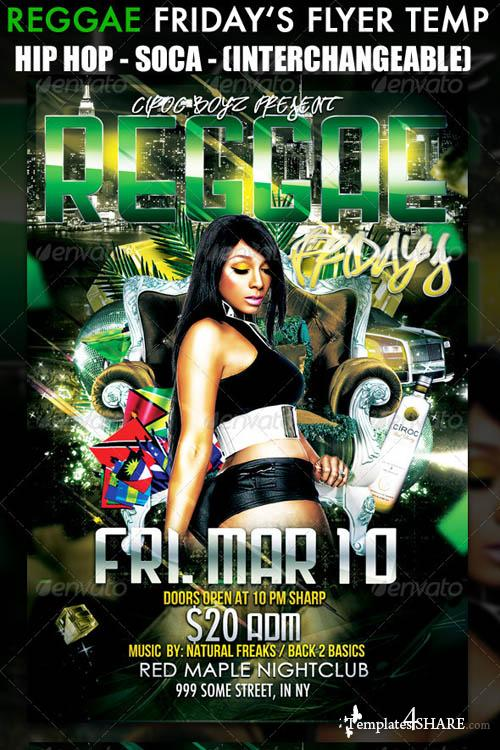 GraphicRiver Reggae Friday's Flyer Template