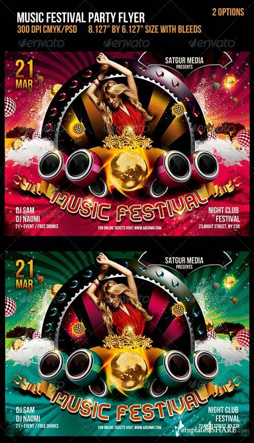GraphicRiver Music Festival Dance Party Flyer