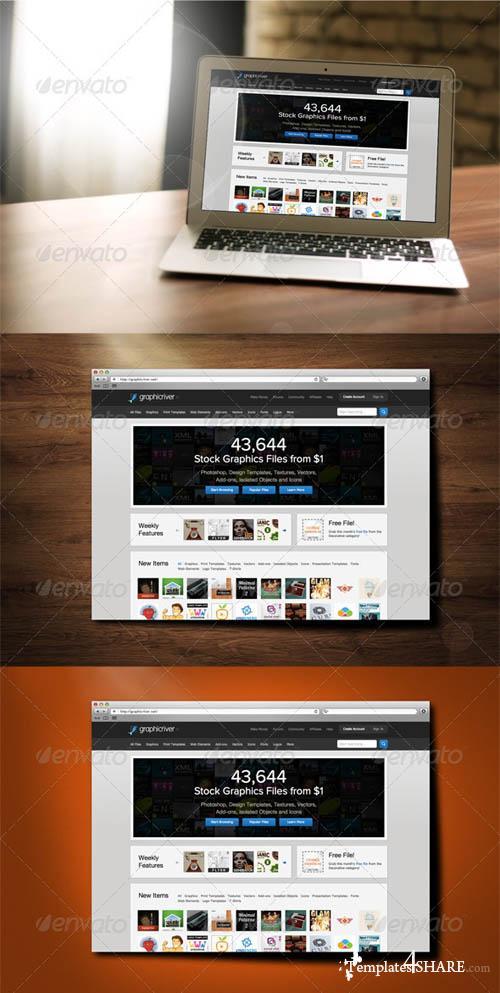 GraphicRiver Realistic Webdesign Mockup