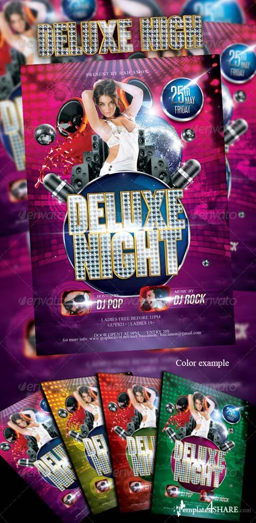 GraphicRiver Deluxe Night Party Flyer
