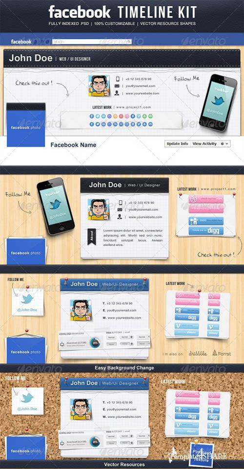 GraphicRiver Facebook Timeline Kit