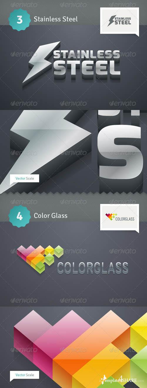 GraphicRiver 3D Extruder - Vector Actions Pack