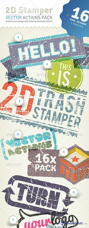 GraphicRiver 2D Trash Stamper - Vector Actions Pack