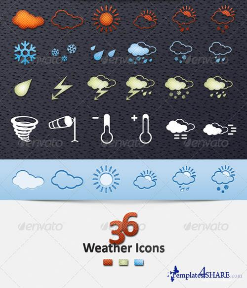 GraphicRiver Weather Icons Set