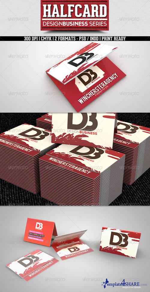 GraphicRiver Half Business Card Design Business serie