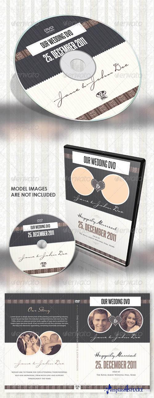 GraphicRiver Vintage Wedding DVD Covers & Disc Label