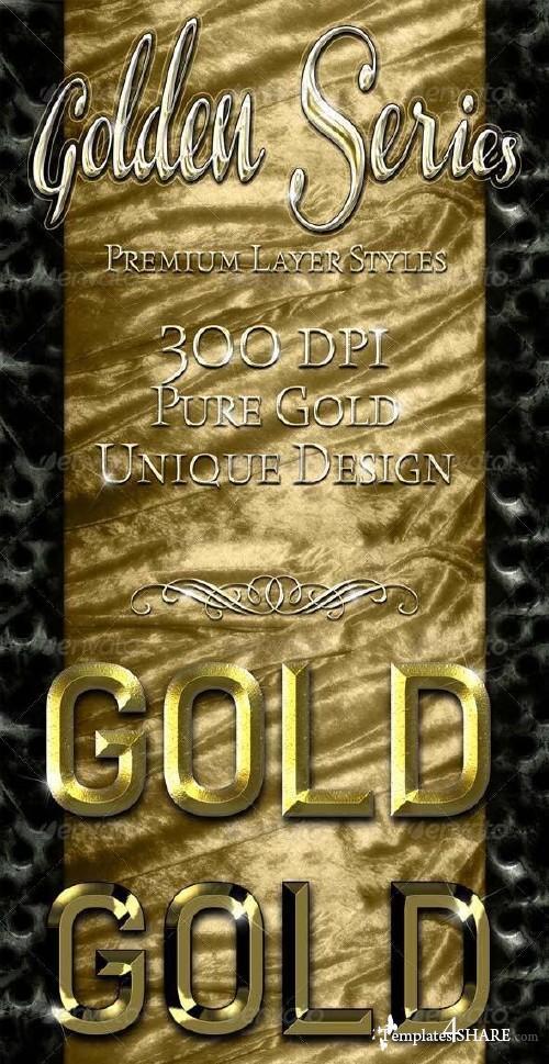 GraphicRiver Golden Series - Premium Layer Styles