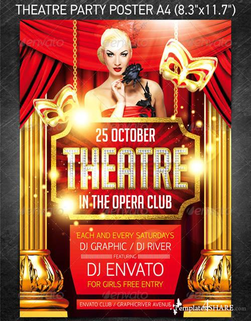 GraphicRiver Theatre Party Poster