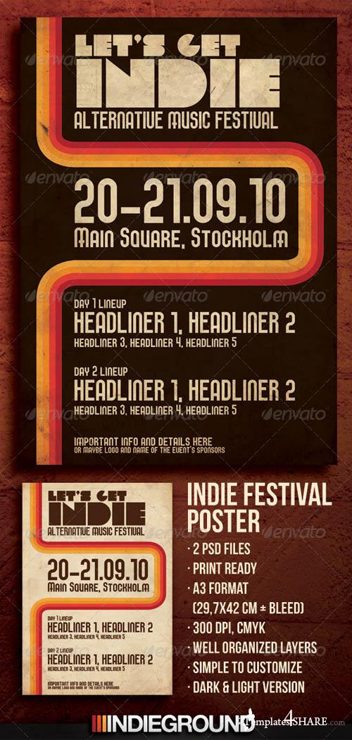 GraphicRiver Indie Festival Poster