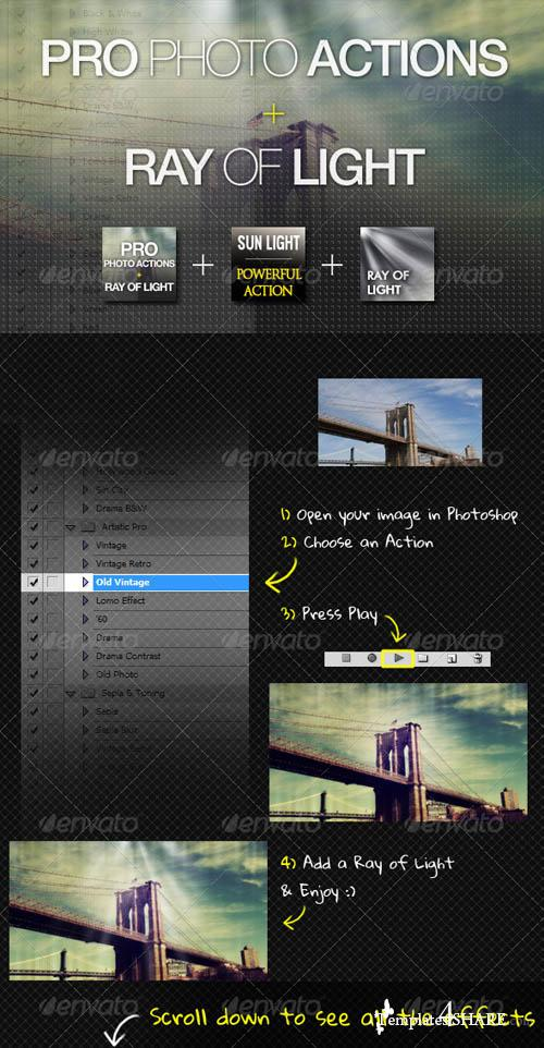 GraphicRiver PRO Photo Actions + Ray of Light