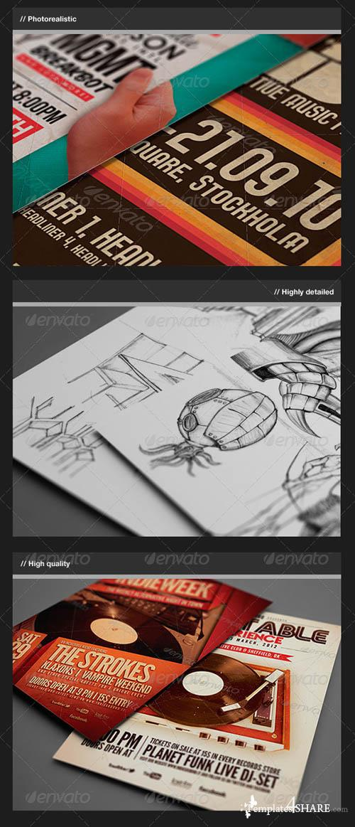 GraphicRiver Flyer / Logo / Close-Up Mock-Up