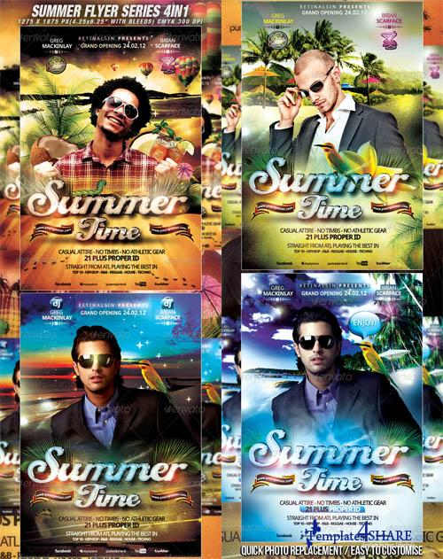 GraphicRiver Summer Flyer Series - 4in1 / High Quality