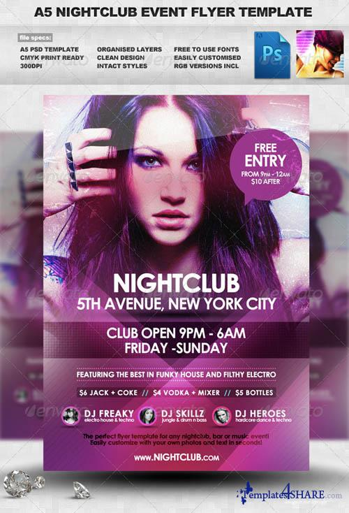 GraphicRiver Nightclub Event Flyer Template