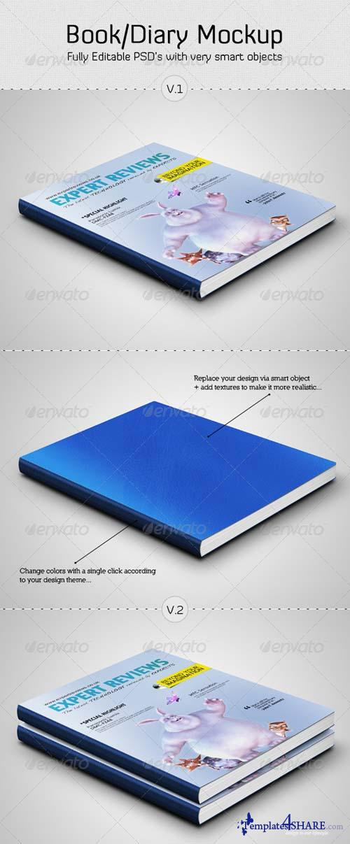 GraphicRiver Book / Diary Mockup