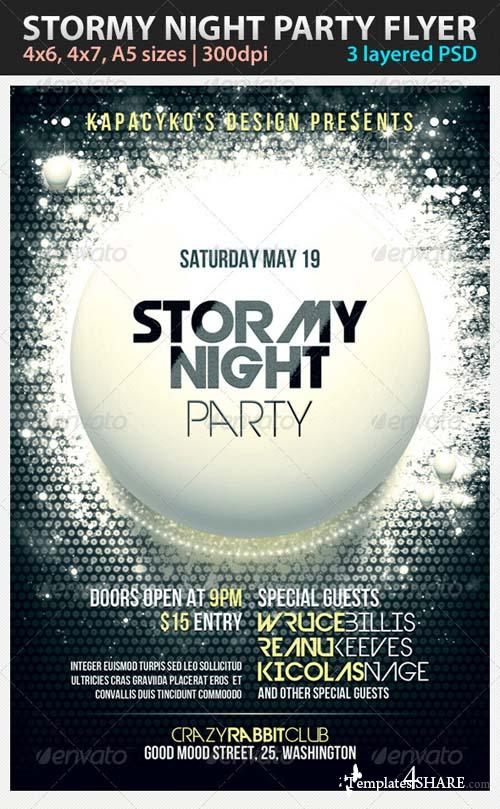 GraphicRiver Stormy Night Party Flyer