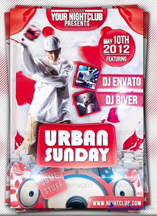 GraphicRiver Urban Sunday Flyer Template