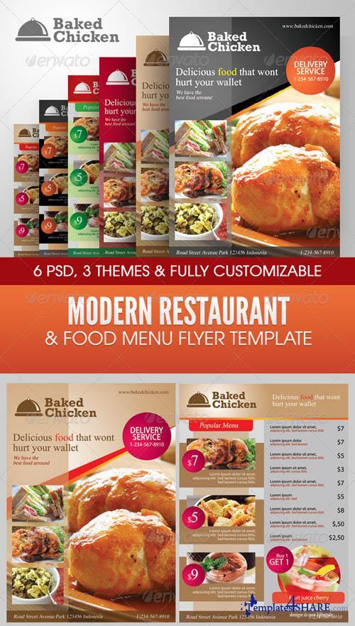 GraphicRiver Modern Restaurant Food Menu Flyer Template