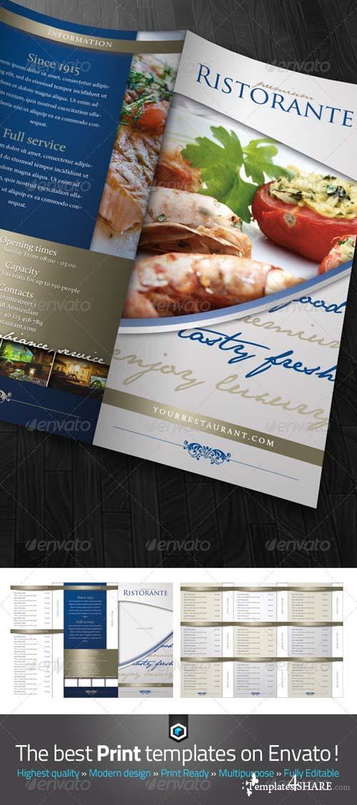 GraphicRiver RW Classy Restaurant Menu Card Template