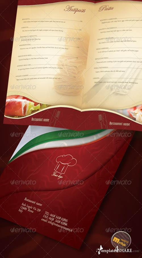 GraphicRiver Restaurant Menu template with photos incuded