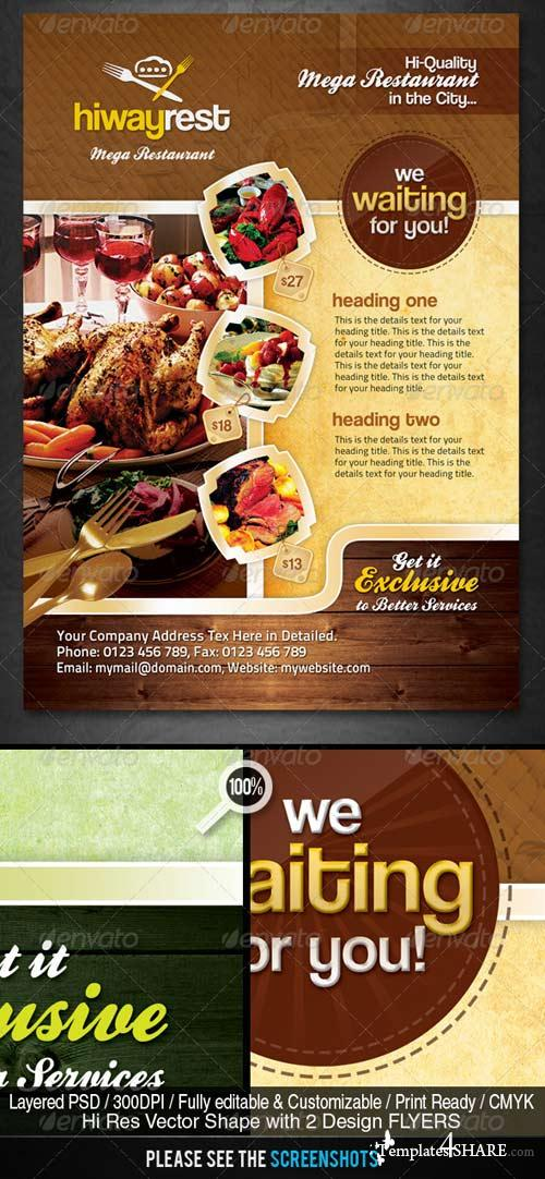 GraphicRiver Hiway Modern Foods Flyers