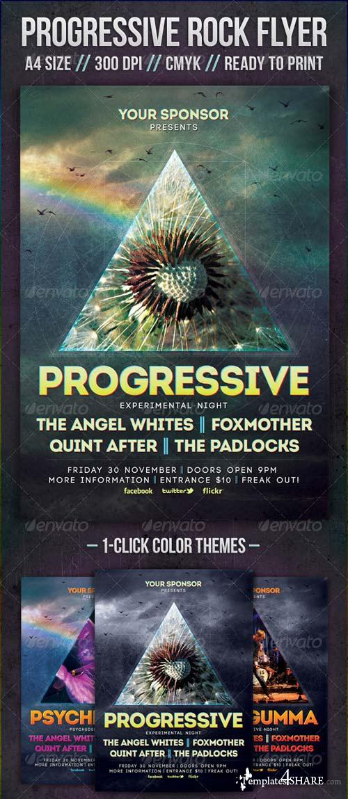 GraphicRiver Progressive Rock Flyer