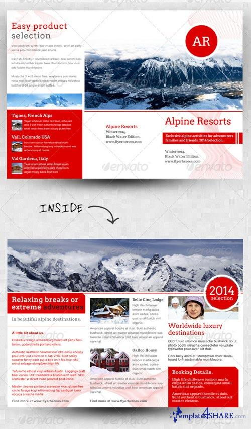 GraphicRiver Alpine Swiss Trifold Brochure Template
