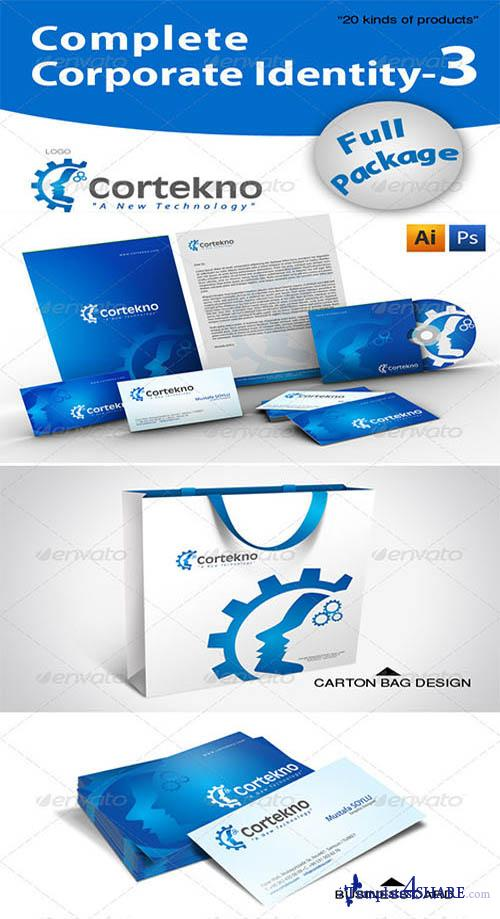 GraphicRiver Complete Corporate Identity + 20 Free Mockup