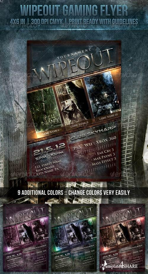 GraphicRiver Wipeout Gaming Flyer