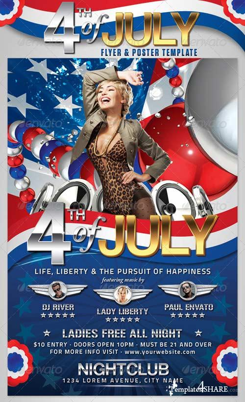 GraphicRiver 4th of July Flyer and Poster Template