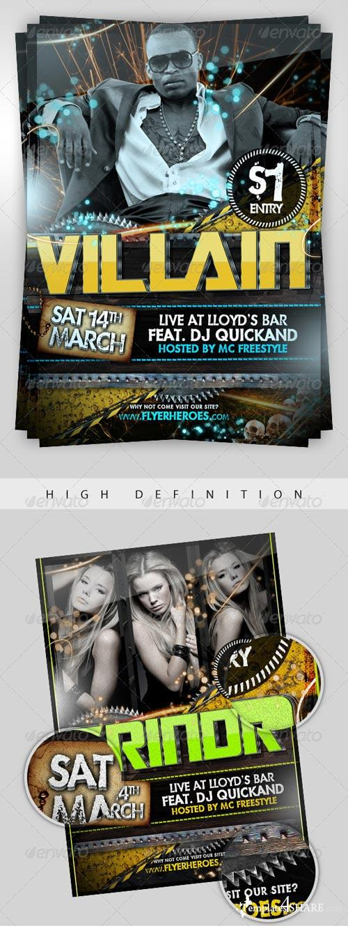 GraphicRiver Grindr - PSD Party Flyer Template