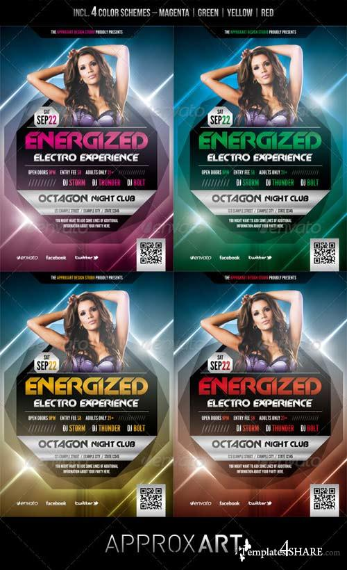 GraphicRiver Energized - Electro Party Flyer