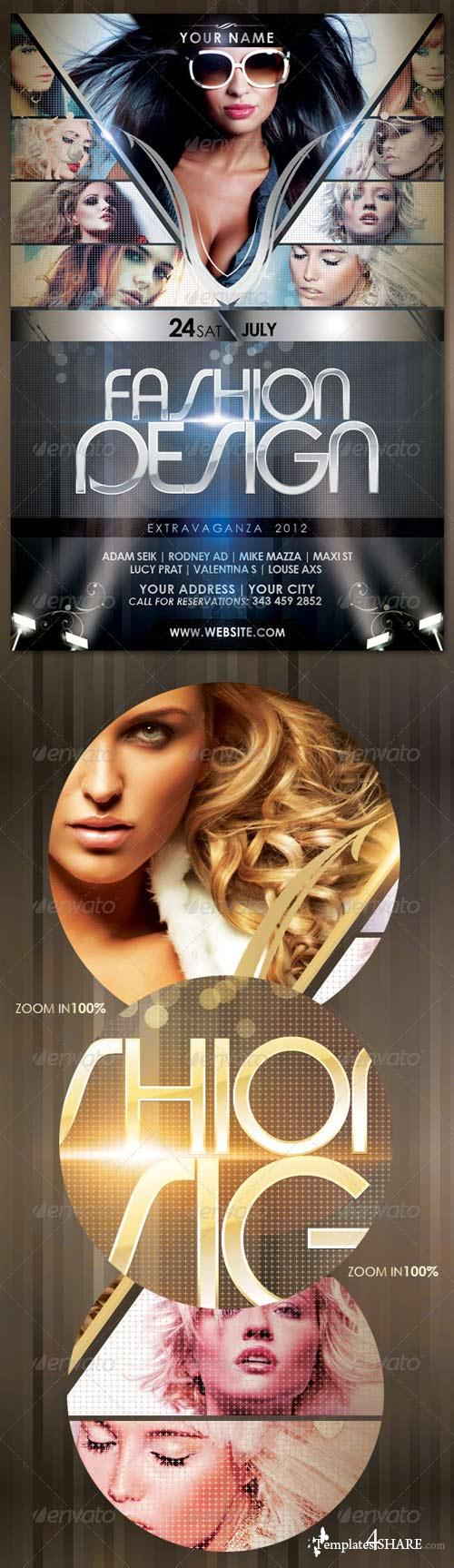 GraphicRiver Fashion Design Flyer Template