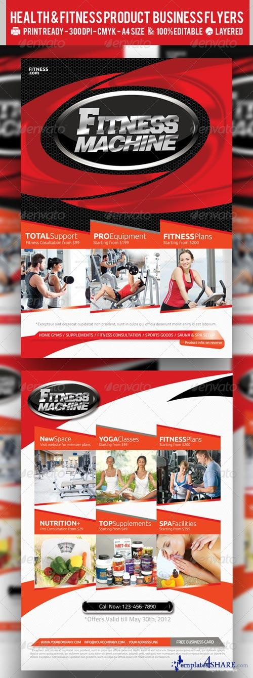 GraphicRiver Multipurpose Fitness or Product Flyer PSD Template