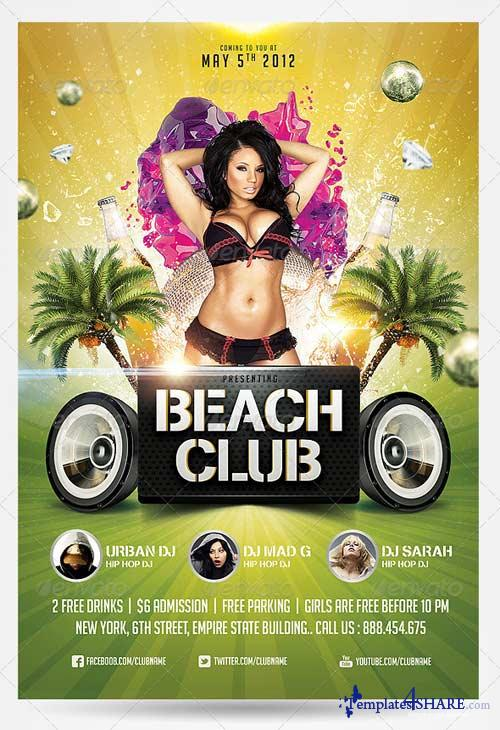 Summer Club Flyers Templates Free Dolapgnetband