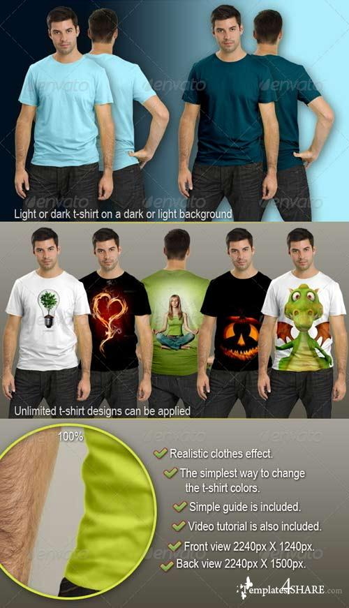 GraphicRiver Male T-Shirt Mock-Up