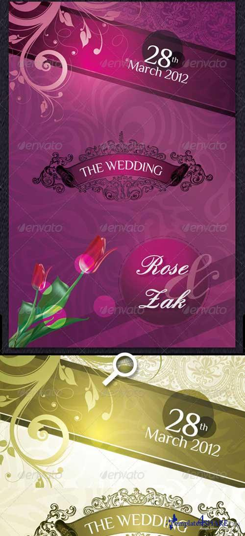GraphicRiver Modern Wedding Invitation Cards