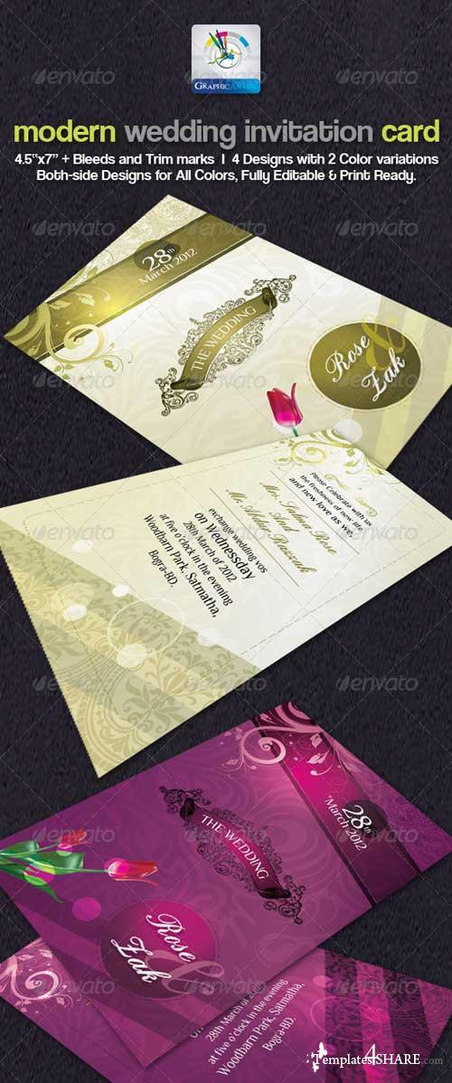 GraphicRiver Modern Wedding Invitation Cards