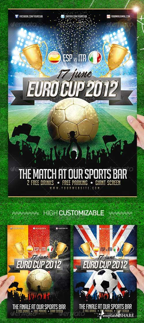 GraphicRiver Euro Soccer Cup 2012 Flyer Template Football