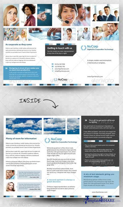 GraphicRiver Corporate 3 Fold Brochure Template