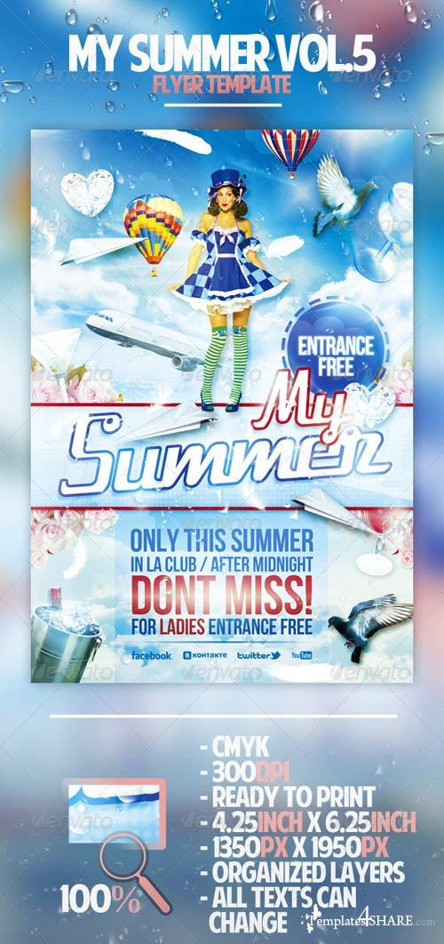 GraphicRiver My Summer Vol.5 Flyer Template