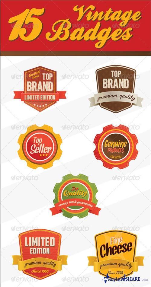 GraphicRiver Retro Vintage Badges & logo