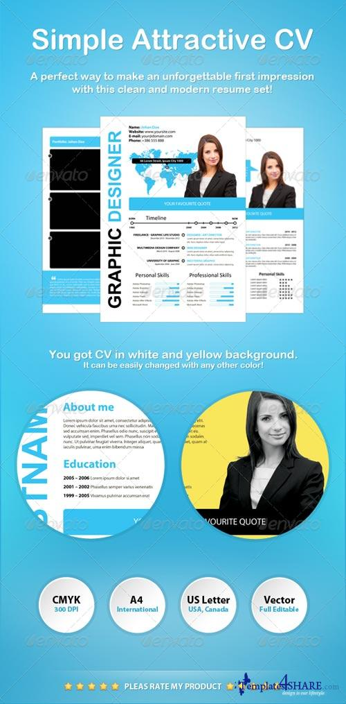 GraphicRiver Simple Attractive CV