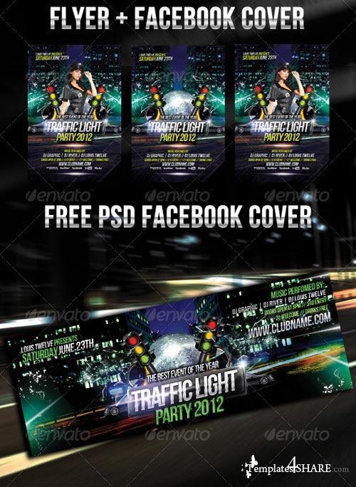 GraphicRiver Traffic Light Party Flyer + Facebook Timeline
