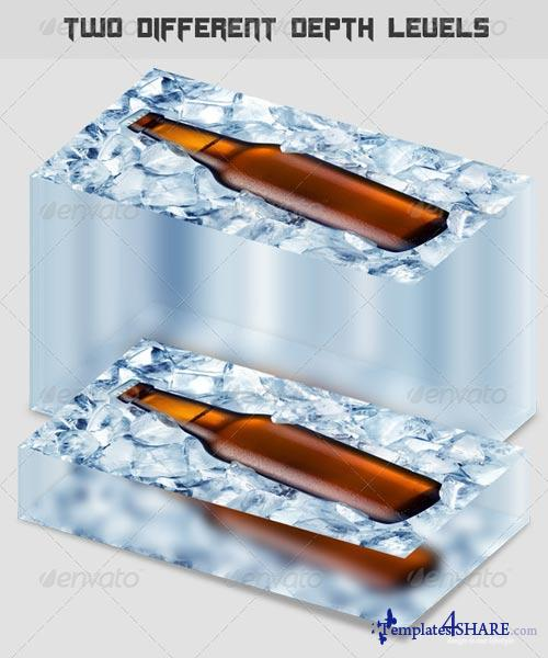 GraphicRiver Paper Weight 3D Glass Displayer
