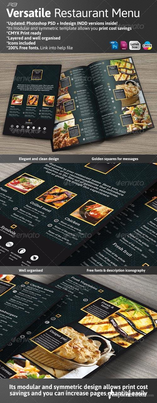 GraphicRiver Black and Gold Menu Template
