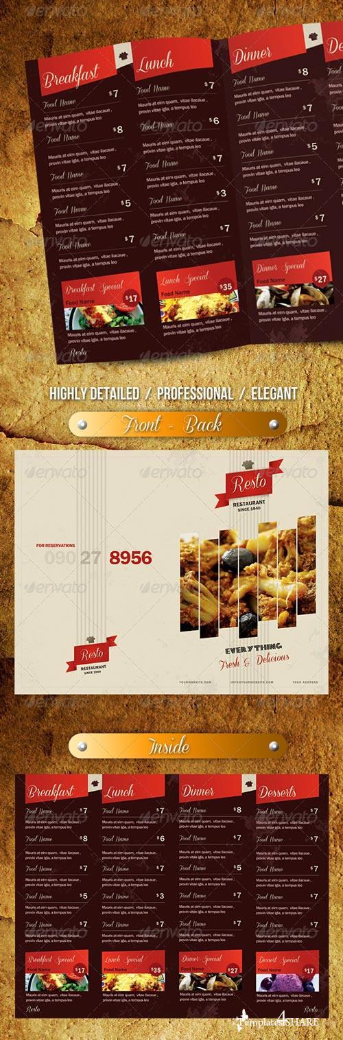 GraphicRiver Elegant Classy Restaurant Menu - 1