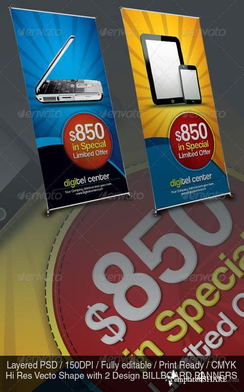 GraphicRiver Product Offer Banner Sinage Templates