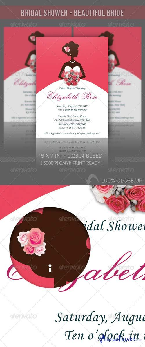 GraphicRiver Bridal Shower Invitation - Beautiful Bride