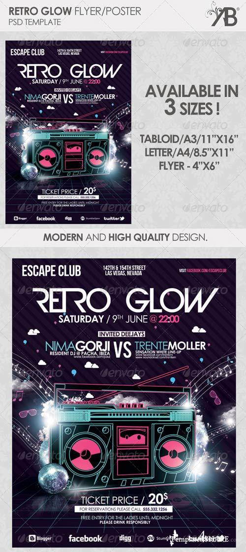 GraphicRiver Retro Glow PSD Template