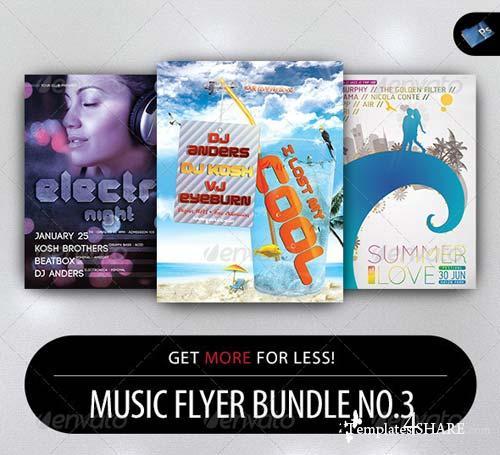 GraphicRiver Music Flyer Bundle No.3